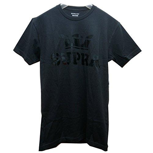 作りアルコール影のある(スープラ) SUPRA Tシャツ ABOVE Tee ブラック 定番ロゴ 黒 BLACK メンズ