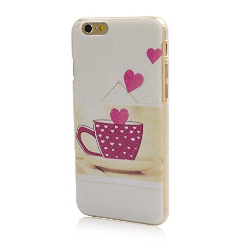 iPhone 6 Case, Ludan Slim Series Loving Cup Unique Design Premium Lightweight Flexible Transparent Soft TPU Gel Case for iPhone 6
