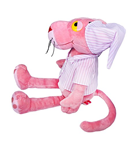 (Pink Panther in Pink Striped Pajamas Large, Stuffed Animals Toy Plush Cute Gift)