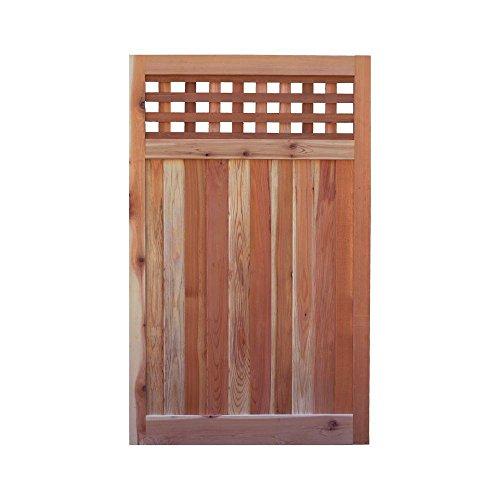 - Signature Development 3.5 ft. H W x 6 ft. H H Western Red Cedar Flat Top Checker Lattice Fence Gate