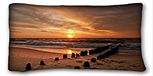 """Soft Pillow Case Cover Nature Pillow Covers Bedding Accessories Size 20""""X36"""" suitable for King-bed"""