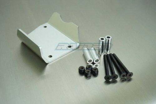Raidenracing Aluminum Alloy Rear Axle Protect Skid Plate Tamiya CC01 Pajero Unimog Silver