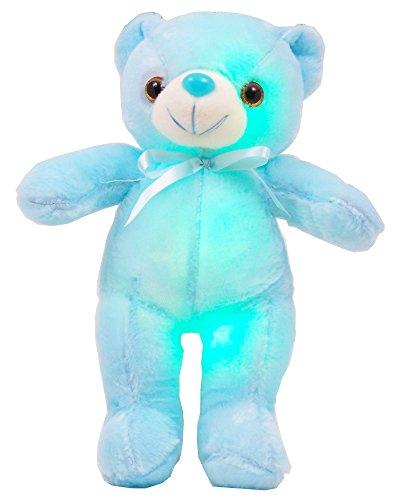 Ritmika Stuffed Animals Teddy Bear Plush Glowing Toy, LED Night Light-up Toy, 13