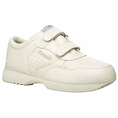Propet Mens Lifewalker Strap Shoe Sport Bianco 8 X (3e) E Oxy Pulitore Bundle