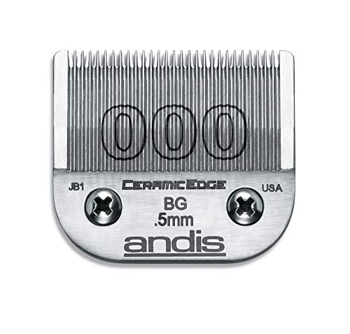 Andis 64480 CeramicEdge Carbon-Infused Steel Clipper Graduation For Close Cutting, Size 000, 1/50-Inch Cut Length