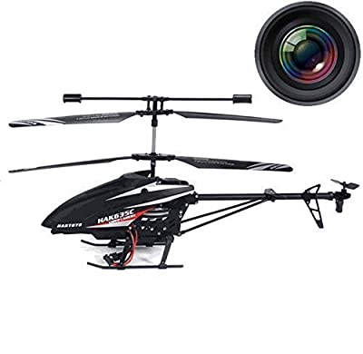 Haktoys HAK635C & HAK738C 2.4GHz Video & Photo Camera 3.5CH RC Helicopter, Gyroscope, Rechargeable, Ready to Fly, and with LED Lights (Micro SD Card Included)