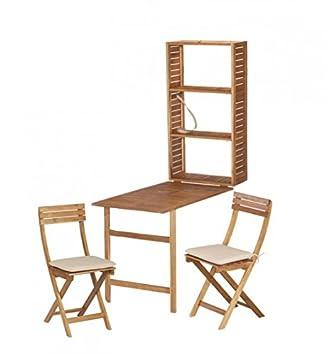 Juego de armario, balcón, mesa pared Grupo Serena, acacia ...