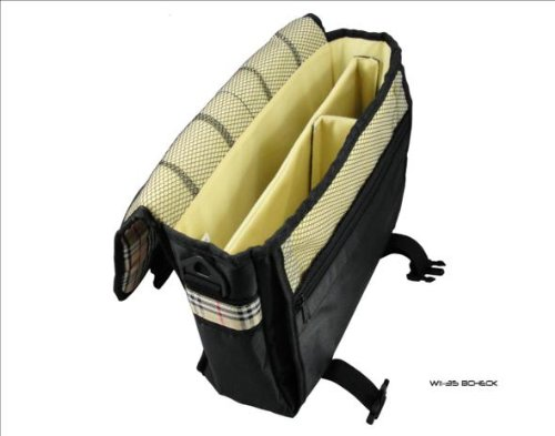 Transformer for Bag Carry Asus amp; New Messenger Style Tablet Eee Case Check Black CCSqPxwO