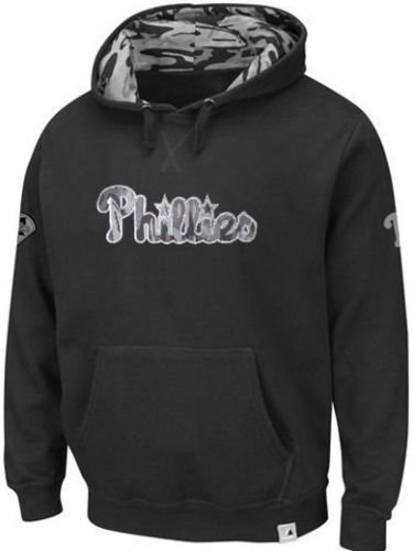 Majestic Philadelphia Phillies Camouflage Mens Pullover Hoodie Big & Tall Sizes (5XL)