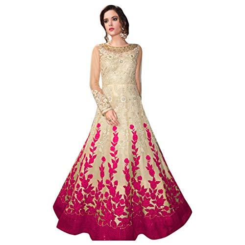 Pink Designer Gorgeous Net Heavy Embroidery Anarkali Salwar Suit Women Indian Muslim Party wear Bespoke 7969