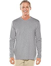 UPF 50+ Men's Long Sleeve Everyday V-Neck T-Shirt - Sun Protective