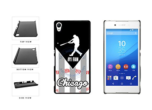 Chicago Black and White Baseball Number One Fan Plastic Phone Case Back Cover For Sony Xperia Z4 E6553 comes with Security Tag and MyPhone Designs(TM) Cleaning Cloth