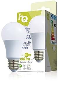 HQ HQLE27A60004 9.5W E27 A+ Blanco cálido - Lámpara LED (Blanco cálido, A+, 220 - 240, 6 cm, 11,5 cm, 65 mm)