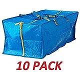 IKEA 10 X Large Blue Frakta Trunk for trolley Laundry Bag