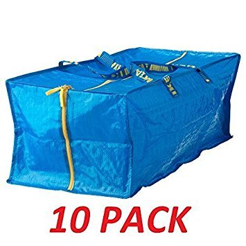 IKEA 10 X Large Blue Frakta Trunk for trolley Laundry Bag by Ikea