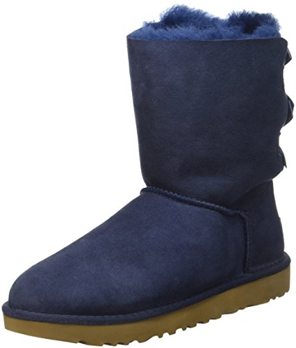 UGG Women's Bailey Bow II Winter Boot, Navy, 7 M US