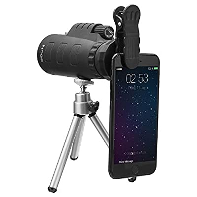 50X Universal Monocular Telescope Outdoor Optical Zoom Scope Lens + Tripod