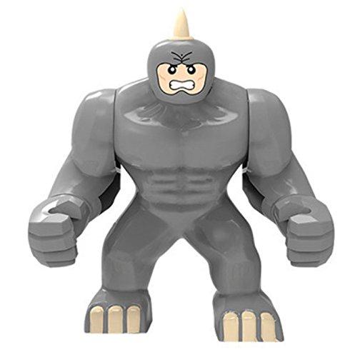 Single Minifigures Super Heroes The Avengers Marvel Series Thanos Hulk Venom Ironman Toys Building Blocks Bricks Pack Collection Toys Gift (Rhino)