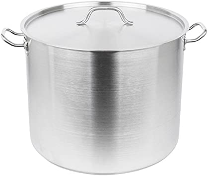Royal Industries Classic Stock Pot with Cover, 60 qt, 17.7 x 14.2 HT, Stainless Steel, Commercial Grade – NSF Certified