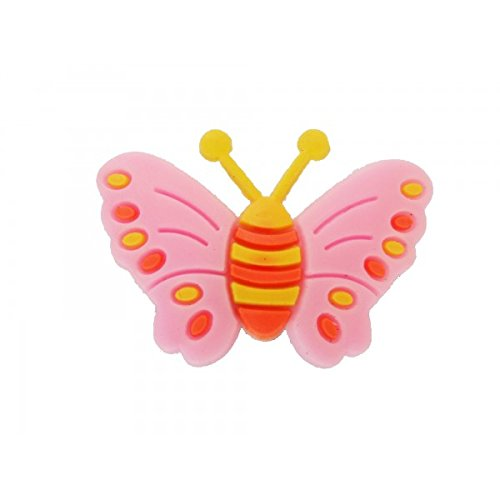 non d/éfinie Pins pour sabot plastique compatible crocs Pinzz Papillon Rose