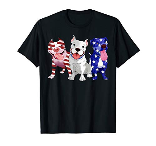 Pit Bull American flag Independence day shirt