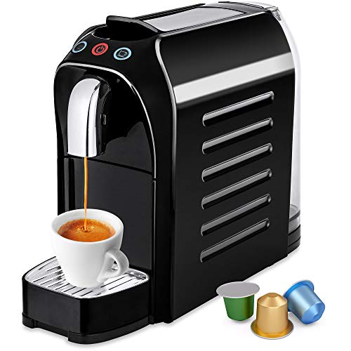 (Best Choice Products Premium Automatic Programmable Espresso Single-Serve Coffee Maker Machine w/Interchangeable Side Panels, Nespresso Pod Compatibility, 2 Brewer Settings, Energy Efficiency)