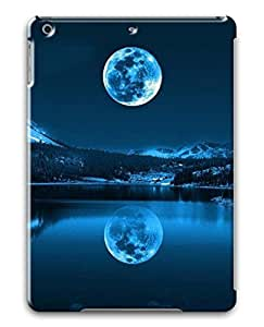 3D PC Case Cover for ipad air Custom Hard Shell Skin for ipad air With Nature Image- Moon ands reflection