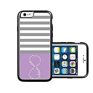 RCGrafix Brand Hakunamatata Teal & Grey Stripes Black iPhone 6 Case - Fits NEW Apple iPhone 6