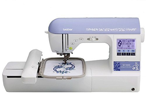 Brother SE1800 (SE 1800) Sewing and Embroidery Machine w/ USB Port + Hard Carrying Case + 5″ x 7″ Embroidery Hoop + 5″ x 12″ Multi-Positionable Hoop + 11 Sewing Feet + More