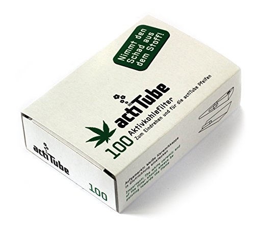 actiTube - activated CHARCOAL filters for rolling 9mm - 1 box = 100 filters