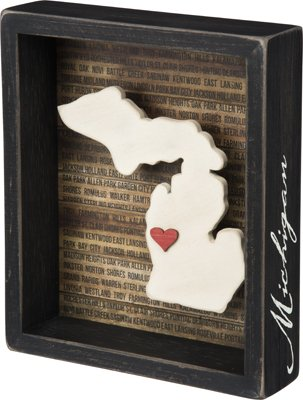 Primitives By Kathy Box Sign - Michigan (State Themed Gifts)
