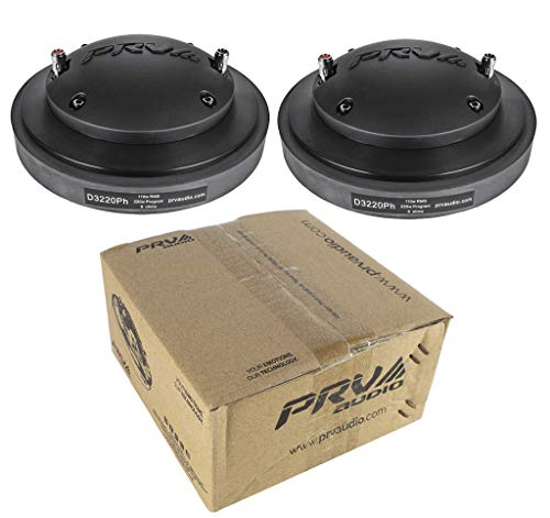 2X PRV Audio D3220Ph Compression Driver Magnet 440 Watts 8 Ohm Pro Car Audio ()