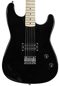 jameson guitars 6 string jameson full size black electric guitar with humbucker rock. Black Bedroom Furniture Sets. Home Design Ideas