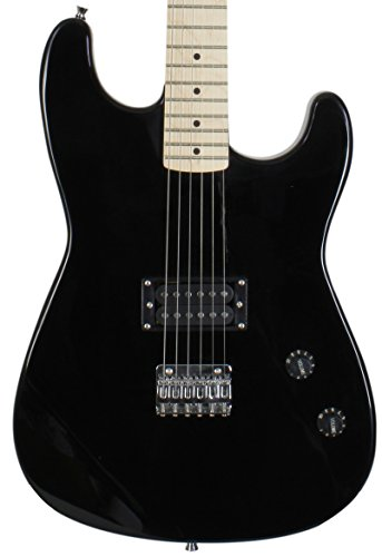 (Jameson Guitars 6 String Jameson Full Size Black Electric Guitar With Humbucker Rock Pickup (RWGT280 BK GCP))