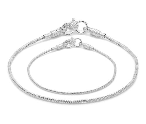 D&D Crafts Sterling Silver Anklets For Girls, Women by D&D