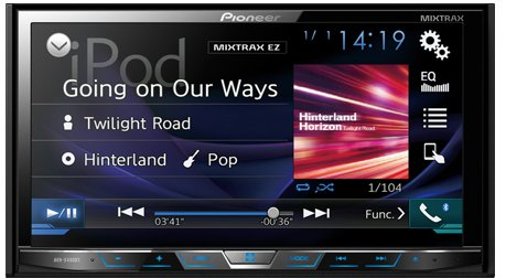 Pioneer AVH-X490BS Double Din Bluetooth In-Dash DVD/CD/Am/FM Car Stereo Receiver with 7-Inch WVGA Display/Sirius Xm-Ready (Pioneer Remote Car Stereo)