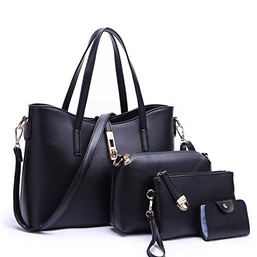 Women Hot Handbag PU Leather bags(white) - 4