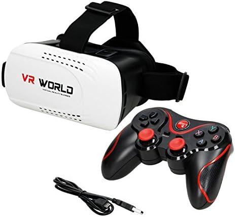 ECD Germany Controlador Bluetooth para Gamepad Joystick para Smartphone PS3 Smart TV Android iOS con 10m de Alcance + Gafas de Realidad Virtual VR 3D: Amazon.es: Hogar