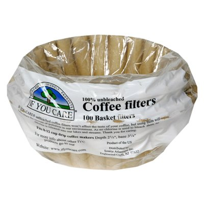 If You Care, Coffee Filter, Basket, Pack of 12, Size - 100 CT, Quantity - 1 Case