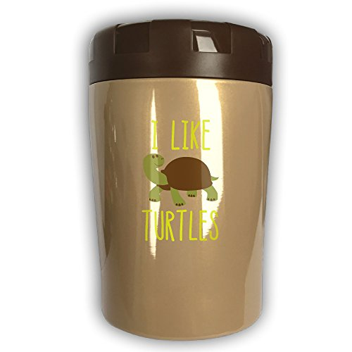I Like Turtles Thermos Cup Travel Insulation Kettle Stew Pot Outdoor Tableware Stew Mug Burning Bottle Vacuum Insulated Food Jar Chocolate