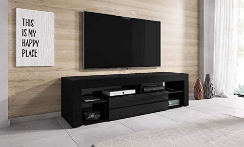 E-com Titan - Mueble para televisor (140 cm), Color Negro: Amazon ...