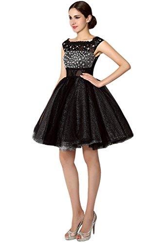 Promgirl House Damen Elegant Traeger Prinzessin Spitze Ballkleider Cocktailkleider Partykleider Abendkleider Kurz