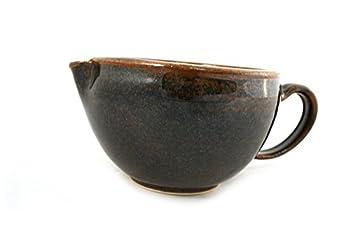 korium Shaving Scuttle Brown 'n Black - handmade ceramics