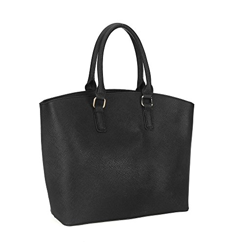 Fashion YOUNG Style Leather Faux Ladies Bag SALLY Large Tote Handbag Celebrity Women Tote Bag Black Oversized BF4x4wqnp