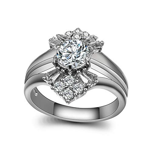 - Crookston New 925 Silver Fil Rings White Sapphire Bride Engagement Wedding Ring 6-10 | Model RNG - 2524 | 9