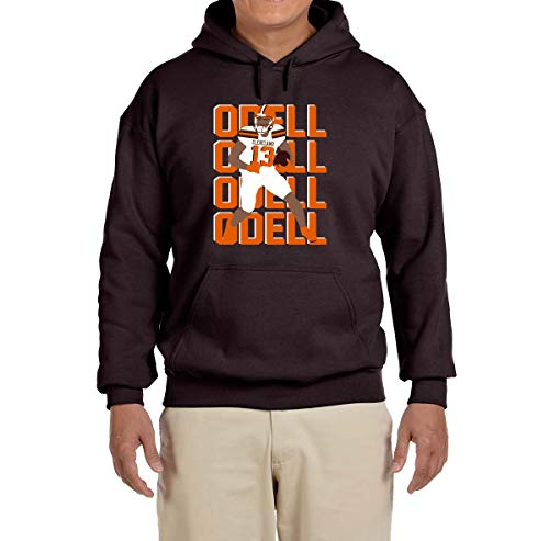 Tobin Clothing Brown Cleveland Odell Text Pic Hooded Sweatshirt Youth Medium