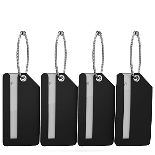 Small Luggage Tags with Privacy Cover & Metal Loop - (4pk, ()