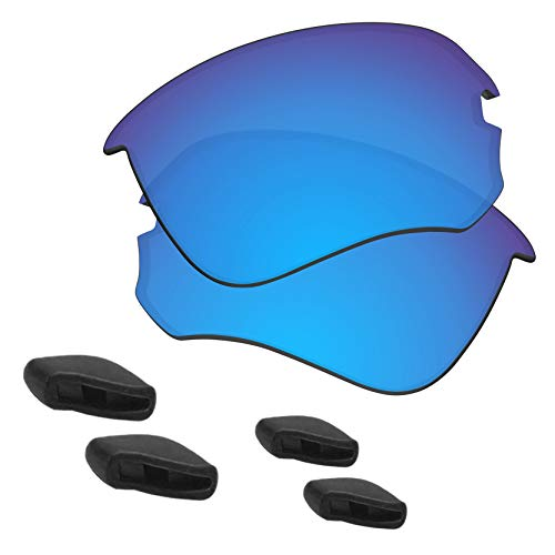 72c5af172cad5 Predrox Blue Mirror Si Speed Jacket Lenses   Nose Pieces Replacement for Oakley  Sunglass Polarized