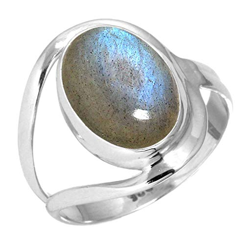 Natural Labradorite Women Jewelry 925 Sterling Silver Ring Size 7 from Jeweloporium