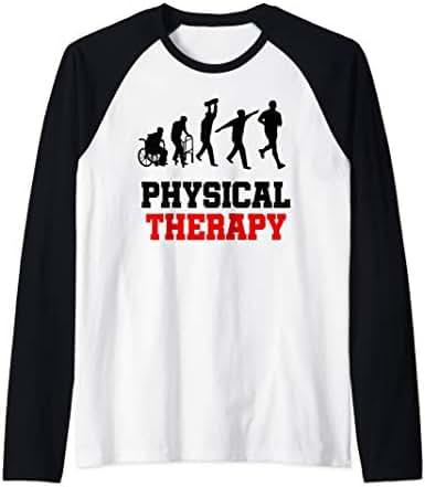 PT Physiotherapy Evolution Physical Therapy Gift Raglan Baseball Tee
